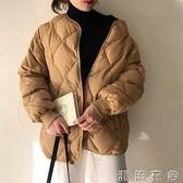 冬季新款韓版學生菱格面包服加厚保暖棉衣女短款寬鬆棉服外套  潮流衣舍