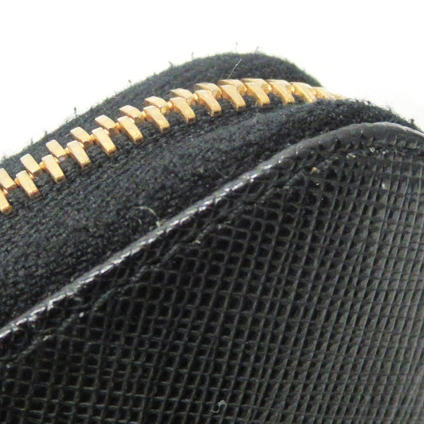 PRADA 普拉達 黑色防刮牛皮ㄇ字型拉鍊長夾 Zip Around Wallet 1ML506 【BRAND OFF】