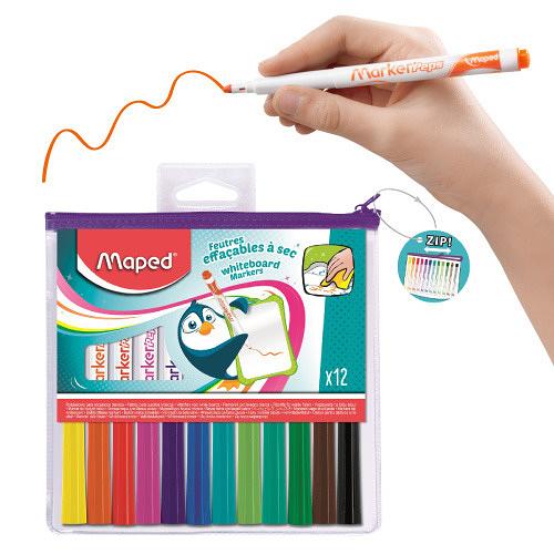 【法國Maped】兒童安全白板筆12色