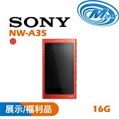 【麥士音響】SONY 索尼 NW-A35   Walkman 數位 隨身聽   A35 16G 2色【福利品】【現場實品展示中】