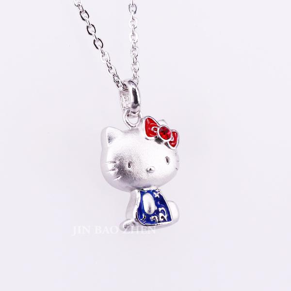 Hello Kitty凱蒂貓X故宮聯名-青花旗袍-純銀項鍊