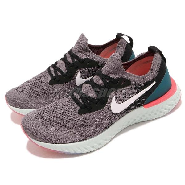 【五折特賣】Nike 慢跑鞋 Wmns Epic React Flyknit 灰 綠 避震回彈中底 女鞋 運動鞋 【PUMP306】 AQ0070-010