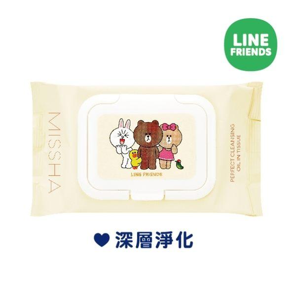 MISSHA X LINE FRIENDS活泉保濕卸妝油濕巾