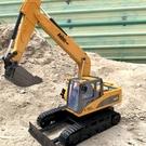 挖掘機玩具 遙控挖掘機仿真合金電動無線工程車挖土男孩模型兒童玩具充電【快速出貨八折搶購】