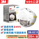 (現貨) 3M Nexcare 8210 粒狀物防護口罩 N95 20入/盒 專品藥局【2006602】