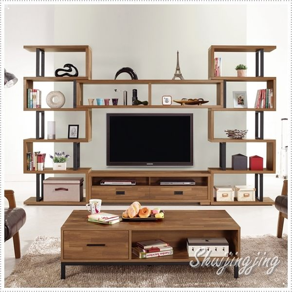 【水晶晶家具/傢俱首選】柏德10尺組合電視櫃 ~~可單買展示櫃 JM8301-1