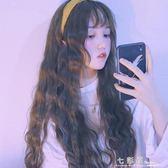 韓國網紅空氣劉海玉米燙泡面假發女長捲發自然蓬鬆潮流U型半頭套  檸檬衣舍