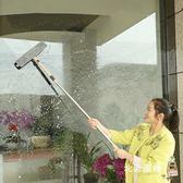 玻璃擦擦玻璃刮家用窗戶伸縮桿子硅膠纖維萬向可伸縮加長清潔工具xw 全館免運