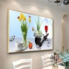 装饰画 餐廳畫單聯畫客廳掛畫單幅裝飾畫水果壁畫房間牆畫酒店玄關有框畫