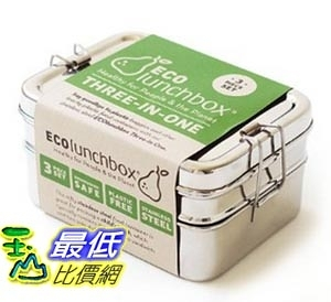 [美國直購] ECOlunchbox Three-in-One Stainless Steel Food Container Set 食品容器套裝