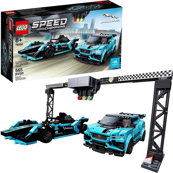 LEGO 樂高 Speed Champions Formula E Panasonic Jaguar Racing Gen2賽車和Jaguar I-PACE eTROPHY 76898 (565件)