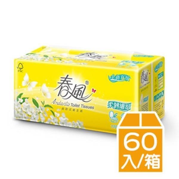 【南紡購物中心】春風柔韌細緻衛生紙(100抽/6包/10串/箱)