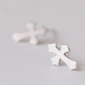 925純銀耳環(耳針式)-十字架百搭生日情人節禮物女飾品73ag333【巴黎精品】