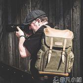 攝影包 攝影包牛皮帆布國家地理單反雙肩相機包戶外休閒背包    非凡小鋪