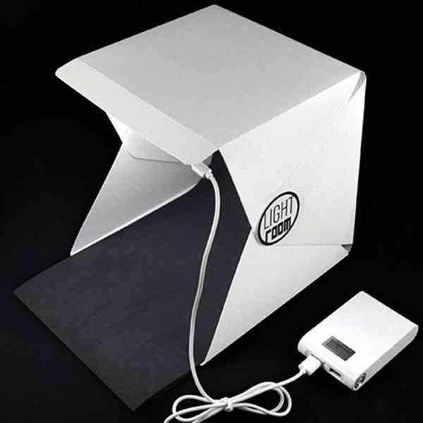 網拍必備 迷你 攝影棚 LED 不頻閃 網拍神器 拍攝打光補光 單眼 柔光箱 罩布 布景 『無名』 K02115