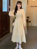 碎花裙 秋季年女甜美收腰顯瘦裙子中長款碎花氣質法式復古連身裙 唯伊時尚
