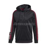adidas 長袖T恤 Chile 20 Hoodie 黑 紅 男款 帽T 運動休閒 【ACS】 GJ6778