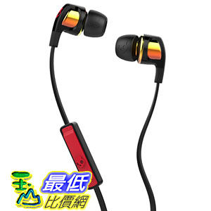 [104美國直購] Skullcandy Smokin Bud 2 Spaced Out/Orange Iridium In-ear Headphones with In-line Mic (S2PGGY-392)