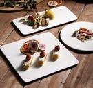 西餐盤 白色甜品盤子陶瓷長方形蛋糕平盤家用西餐餐具壽司點心慕斯平板盤【快速出貨八折下殺】