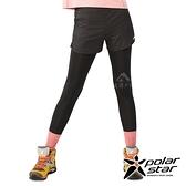 POLARSTAR 女 兩件式運動長褲『黑』P19302 緊身褲 運動褲 壓縮褲 跑步 健身 健走 瑜珈