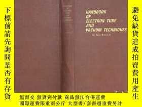 二手書博民逛書店handbook罕見of electron tube and v