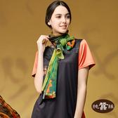 【岱妮蠶絲】牛樟芝系列藝術風蠶絲圍巾長絲巾(樟芝精靈)