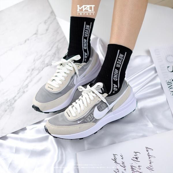 IMPACT Nike Waffle One 灰白 小Sacai 解構 輕量 女鞋 DA7995-100