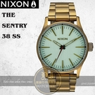 NIXON 實體店THE SENTRY 38 SS潮流腕錶A450-2230公司貨/極限運動/潮流