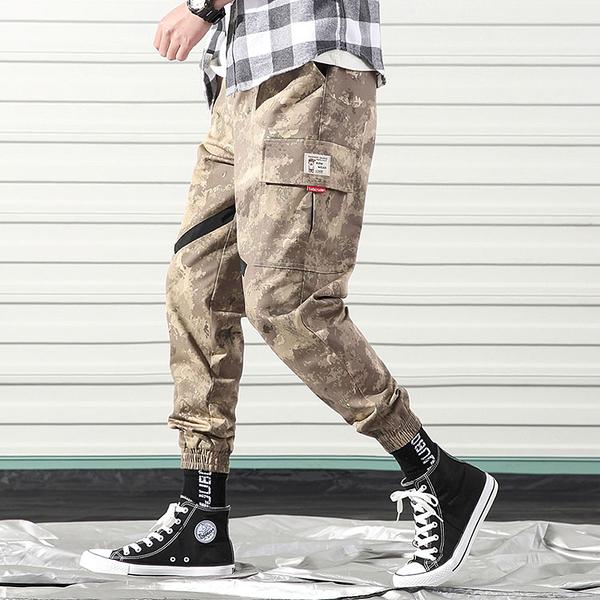 潮流街頭日系風格迷彩造型百搭休閒束口長褲