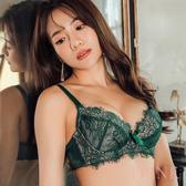 i PINK 大罩杯 夏洛特小姐 睫毛蕾絲J鋼圈薄杯成套內衣70B-100H(綠)