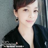 耳環 現貨 韓國 氣質 甜美 百搭 幾何 三角型 絲絨 球球 珍珠 耳針 S91210 Danica 韓系飾品 韓國連線