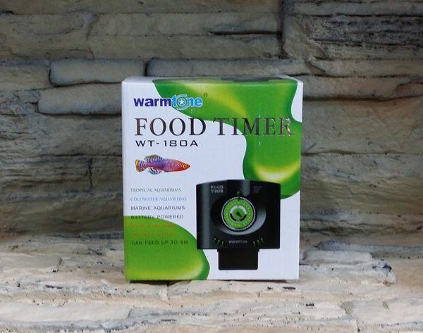 【西高地水族坊】Warm Tone 六段定時自動餵食器(還有時針功能、可設定六個時間