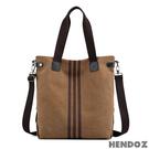 帆布包-HENDOZ.復古條紋大容量托特三用包(共二色)1393#