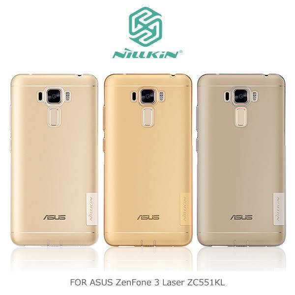 【愛瘋潮】NILLKIN ASUS ZenFone 3 Laser ZC551KL 本色TPU軟套 軟殼 透色套 手機殼