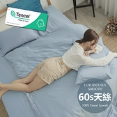 #6ST09#60支100%天絲TENCEL文青素色6尺雙人加大床包枕套三件組(不含被套)專櫃頂級300織-台灣製