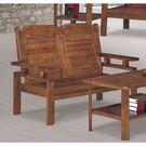 【森可家居】雲杉中式復古板椅雙人沙發 8SB133-3 實木 MIT 台灣製造