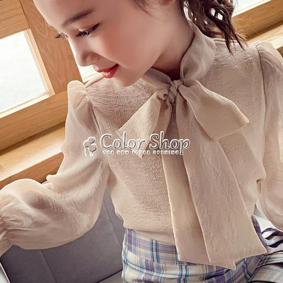 女童襯衣長袖裝2010新款中大童兒童韓版洋氣上衣小女孩系帶襯衫 SUPER SALE 快速出貨