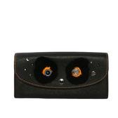 【COACH】眼睛造型兩折長夾(黑色)F22724 QBBK