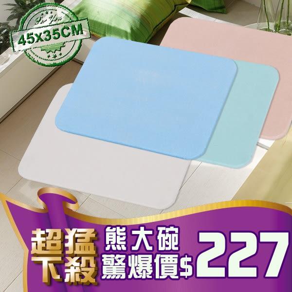 B41 珪藻土地墊 (現貨)  硅藻土地墊送磨紗紙 日系速乾地墊 腳墊 浴墊 腳踏墊 記憶地墊 (45*35)