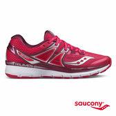 SAUCONY TRIUMPH ISO 3 緩衝避震專業訓練鞋款-粉紅x莓果紅x銀