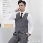夏季韓版潮修身西裝馬甲男士英倫西服背心休閒馬夾 JH1937『男人範』