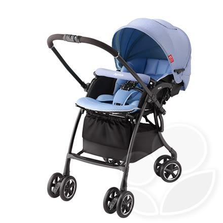 Aprica 愛普力卡 LUXUNA Comfort 輕量四輪自動定位嬰兒車 - BL藍色海洋【佳兒園婦幼館】