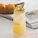 餐廳玻璃杯蘇打飲料杯氣泡水杯果汁杯冰咖啡杯【聚可愛】