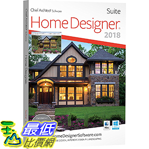 2019 美國暢銷軟體 Chief Architect Home Designer Suite 2019 (Download) 下載版