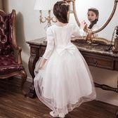 女童公主裙冬季兒童連衣裙洋氣秋裝女寶寶裙子秋冬裝加絨加厚禮服