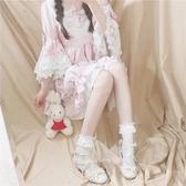 2雙|lolita小腿襪洛麗塔蕾絲襪子日系復古花邊鏤空堆堆襪【聚寶屋】
