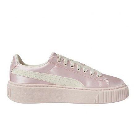 1[TellCathy]PUMA Basket Platform 緞面 粉色 緞帶 厚底鞋 365133-04
