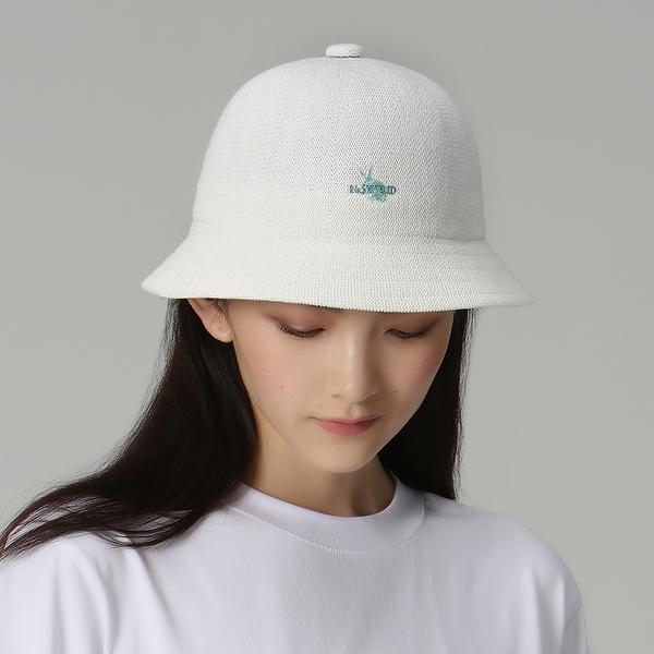 【ISW】兔標休閒定型盆帽-米白 (兩色可選) 設計師品牌
