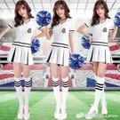 新款啦啦隊表演服女韓版足球寶貝拉拉隊舞蹈服裝啦啦操演出服 檸檬衣舍