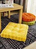 坐墊 加厚坐墊家用辦公室臥室地上椅子墊子可四季通用椅墊臀部懶人座墊 晶彩